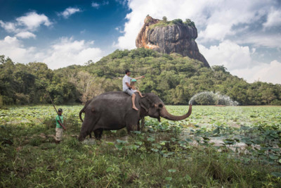 Elephant riding in Sri Lanka