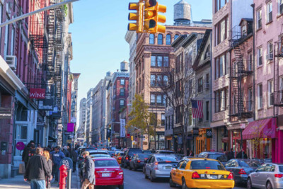 streets and high rise buildings of Soho