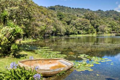 Boat in a lake in Nicaragua