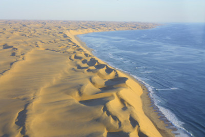 Aerial view of the Skeleton Coast