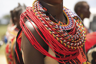 Tribal necklaces, Kenya