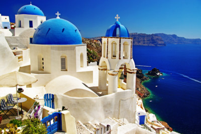 Blue Domed Churches, Santorini