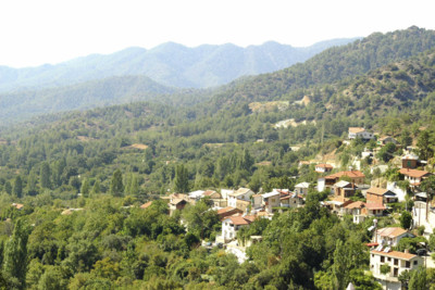 View across the Troodos Mountains