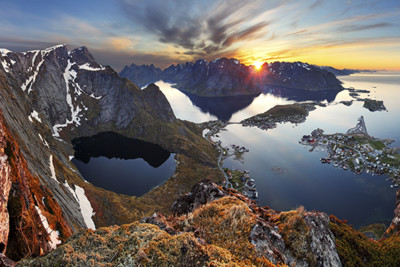 View across the Lofoten Archipelago