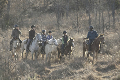 horse back safari for families in safa