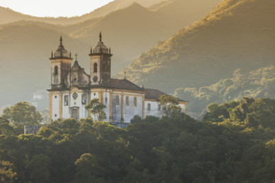 Church in Minas Gerais at Sunrise