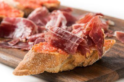 Tapas Spanish Ham and Tomato