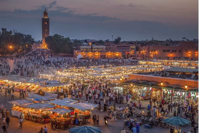 Night market in Marrakech, Morrocco