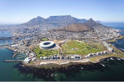An aerial view of Cape Town, South Africa