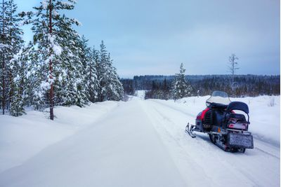 Snowmobiling in Sweden