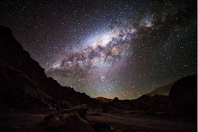 starry sky in atacama desert