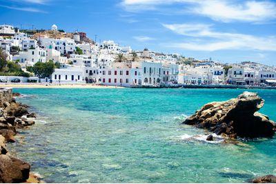 mykonos beach town