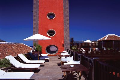San Roque roof terrace with sun loungers