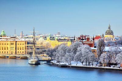 stockholm port in winter