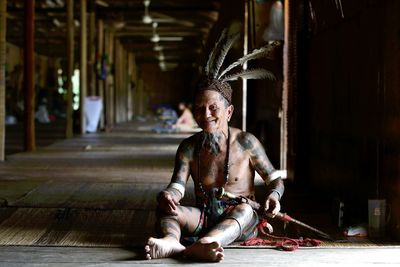 An Iban tribe man