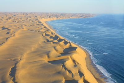 flying over the skeleton coast