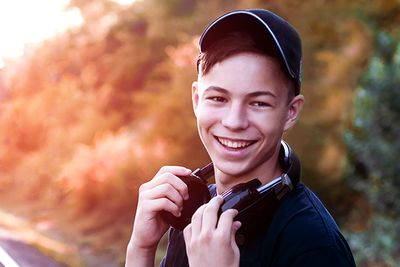 teenage boy smiling for photo