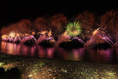 fireworks on copacabana beach