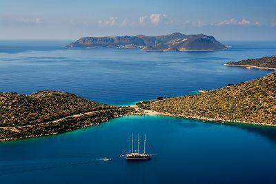 gulet boat in Turkey's ocean