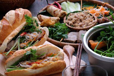 vietnamese banh mi thit food
