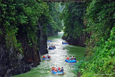 White water rafting at Pacuare Jungle Lodge