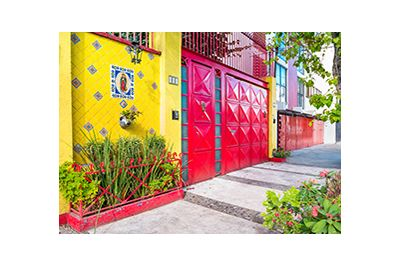 colourful mexico city