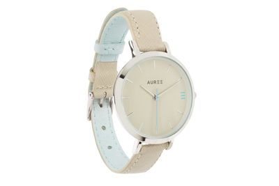 Almond powder blue watch