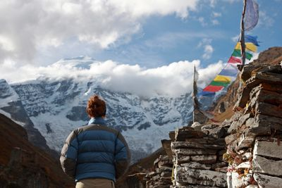 woman trekking in the himalayas