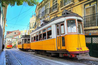 lisbon yellow tram