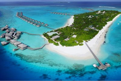 Six Senses Laamu aerial view