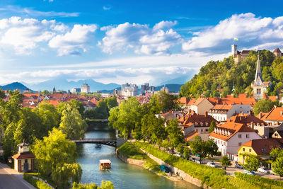 ljubljana panorama in slovenia