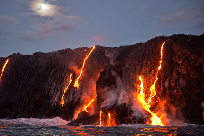 volcano and lava in Hawaii