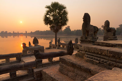 cambodia srah srang angkor sunrise