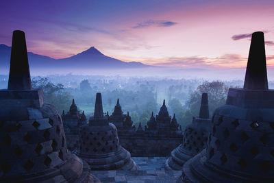 indonesia borobudur sunrise