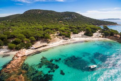 Palombaggia beach in Corsica Island