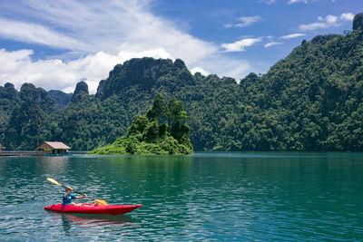 kayaking on cheow lan lake