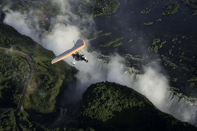 Paragliding over Victoria Falls