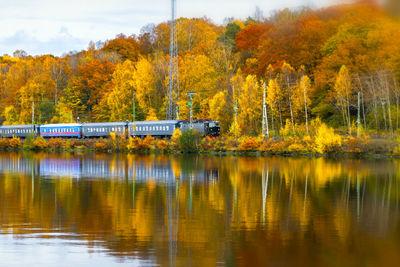 Train in Sweden during Autumn