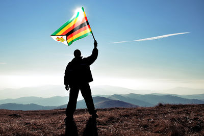 flying zimbabe flag