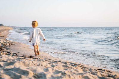 Italy beach toddler