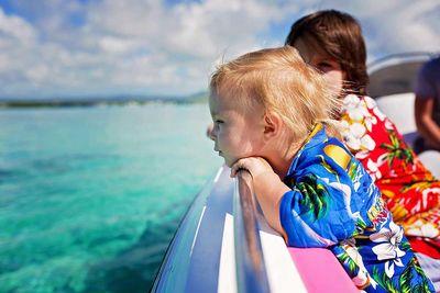 Maldives toddler on boat