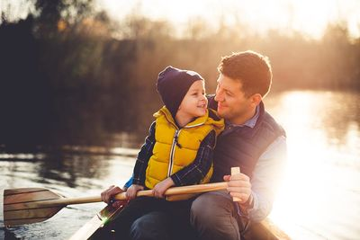 Father Son Boat Family Sabbatical