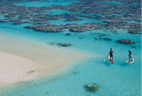 Paddle Boarding on Tetiaroa Private Island
