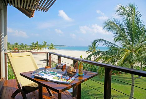uga bay beach villa terrace