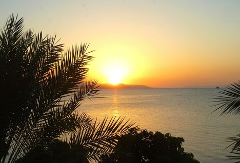 Djibouti coast sunset