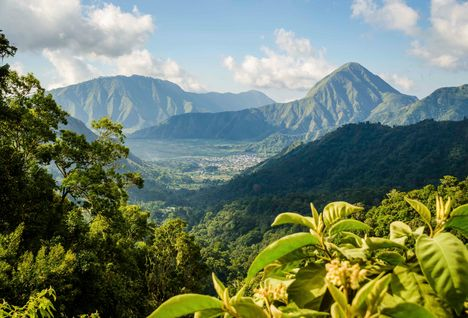 Mountain Scenery in Indonesia