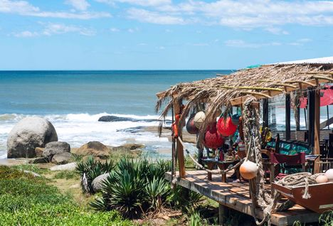 A restaurant on the coast of Uruguay