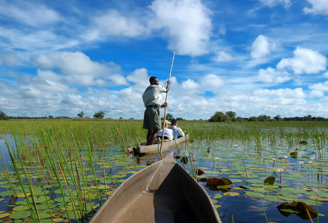 boating safari in botswana