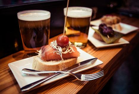 Pintxo and beer