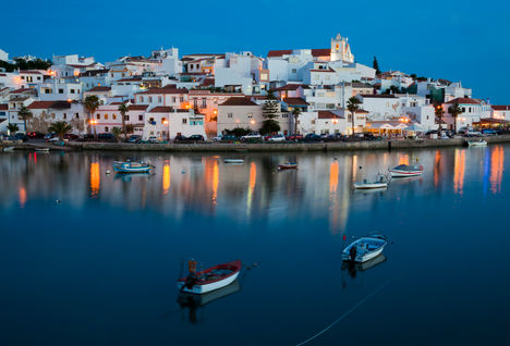 algarve bay in evening